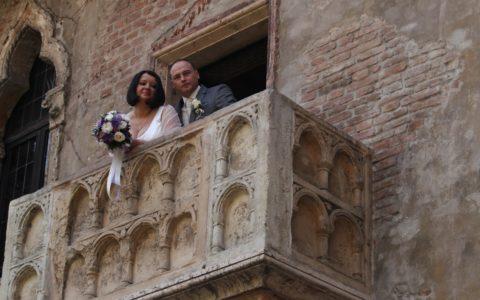 Ślub na balkonie Romea i Julii w Weronie