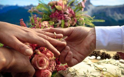 Ślub w górach Dolomitach - zdjęcie 01