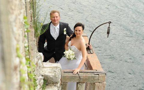 Ślub na tarasie zamku nad Jeziorem Garda - zdjęcie 07