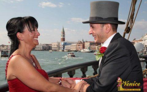 Ślub w Wenecji i szalone wesele w galeonie - zdjęcie 13