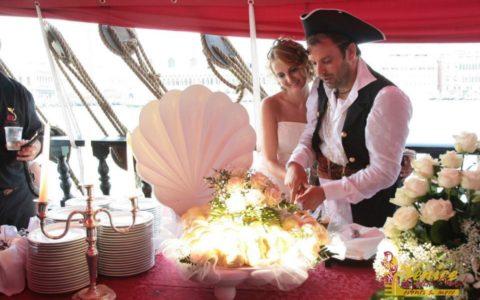 Ślub w Wenecji i szalone wesele w galeonie - zdjęcie 23