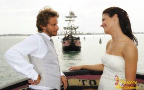 Ślub w Wenecji i szalone wesele w galeonie - zdjęcie 38