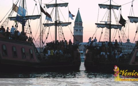 Ślub w Wenecji i szalone wesele w galeonie - zdjęcie 45