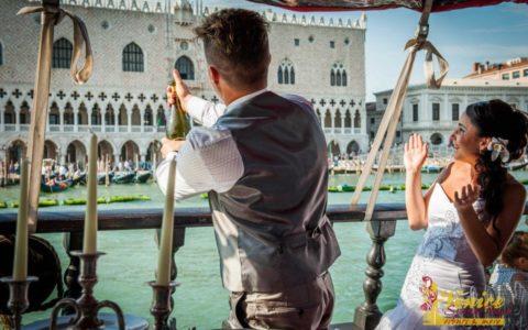 Ślub w Wenecji i szalone wesele w galeonie - zdjęcie 48
