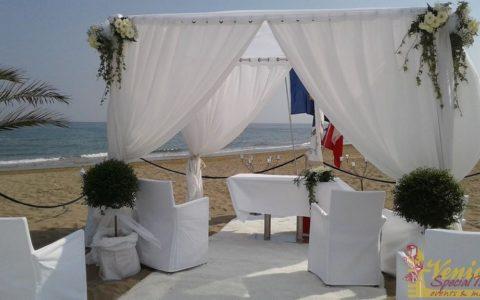 Namiot plażowy - ślub nad adriatykiem - venicespecial.com