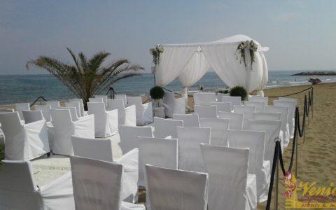 Ślub nad morzem - Włochy - VeniceSpecial - krzesła dla gości ślubnych