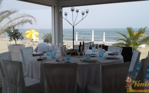 Ślub nad morzem - Włochy - VeniceSpecial - zastawa stołowa
